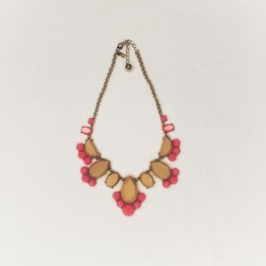 Kate Spade Pink acrylic and wood necklace